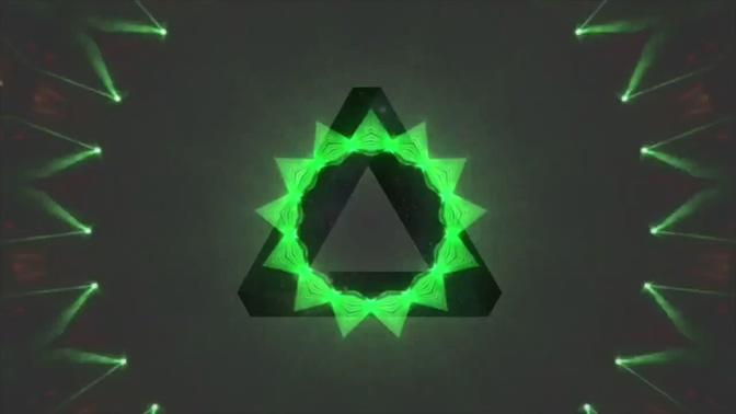 节奏三角万花筒视频素材