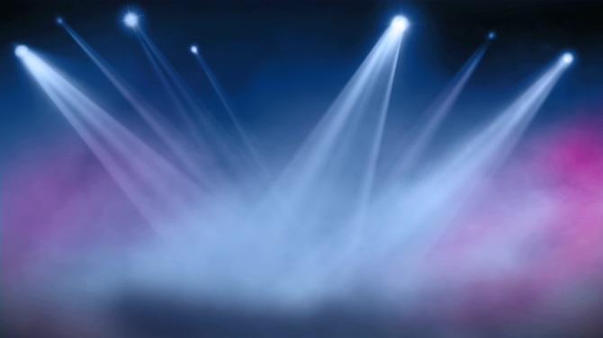 舞台灯光聚光灯光效光线唯美视频素材