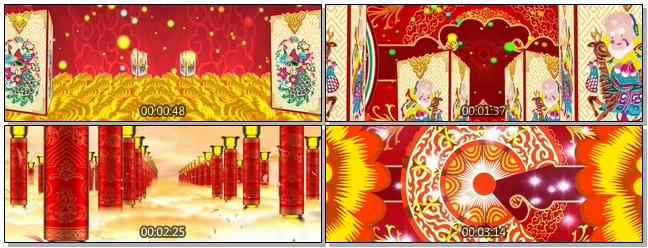 喜庆热闹的民族配件喜迎新年的视频素材