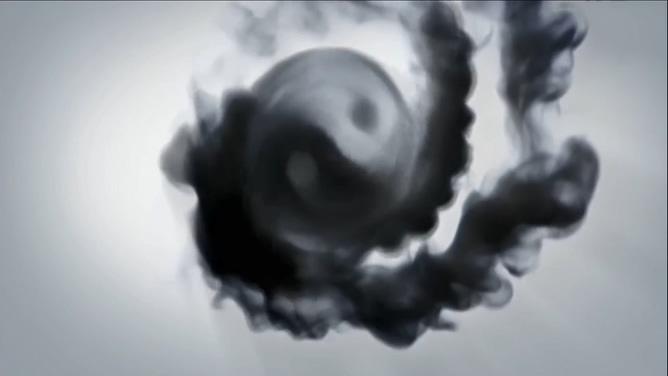 清新淡雅的水墨画展示中国功夫的视频素材