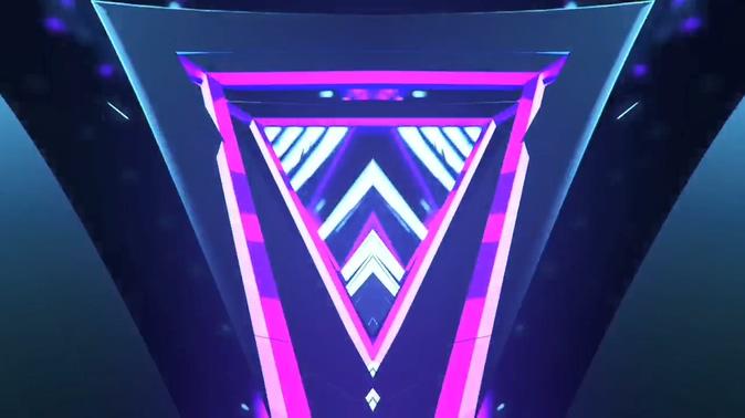 霓虹动感摇滚节奏灯光效果模板