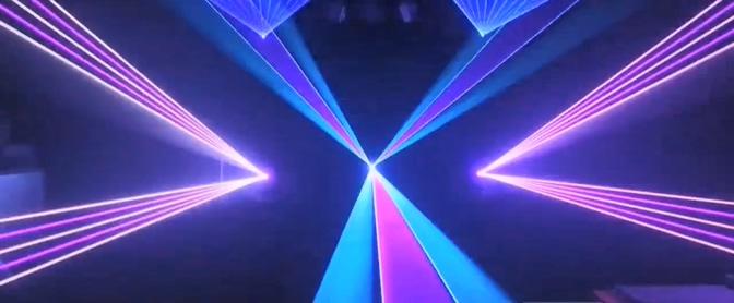 蓝紫色激光秀音乐万花筒模板
