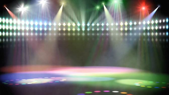 舞台灯光秀聚光灯射灯视频素材