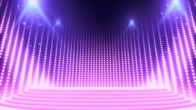 瀑布灯光秀视频素材