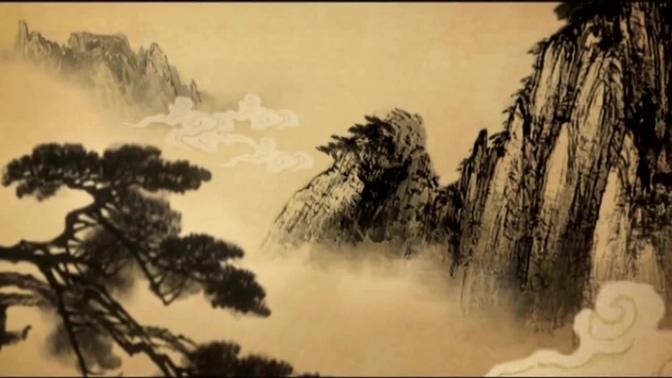 震撼励志的水墨黄山追梦视频素材