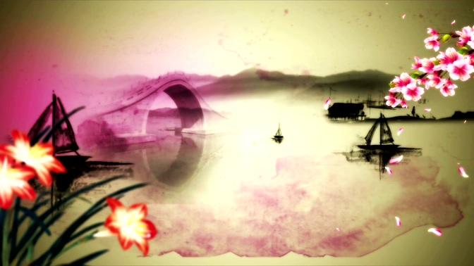 唯美梦幻的水墨江南美好景象的视频素材