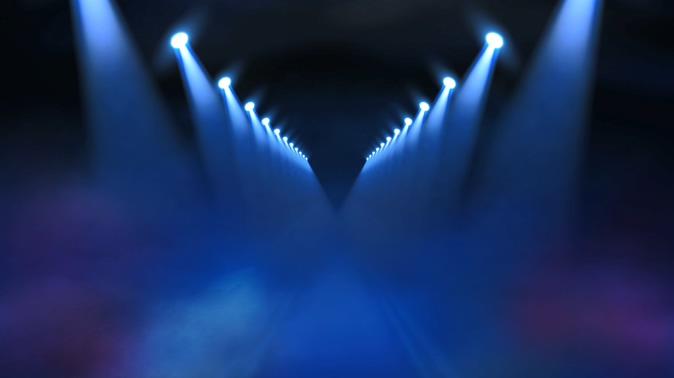 聚光灯灯光秀视频素材
