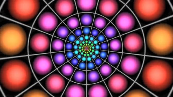 多彩圆形万花筒视频素材