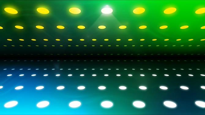 绿色灯光万花筒视频素材