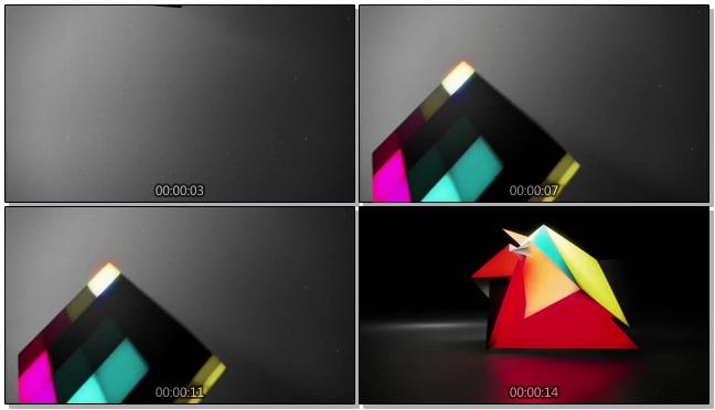 时尚的彩色模仿变幻视频素材