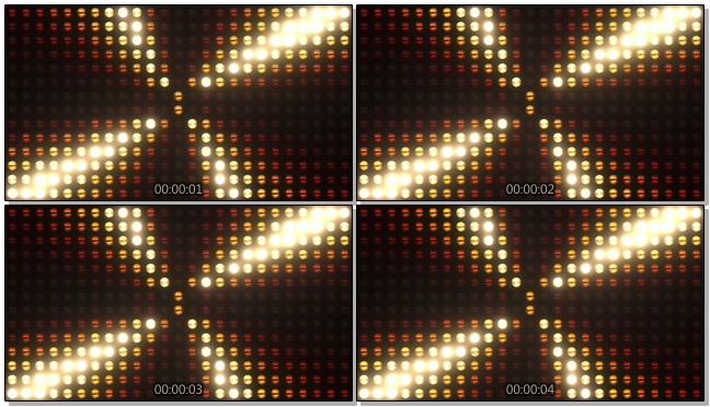 酒吧灯光墙形成大风车图案的视频素材