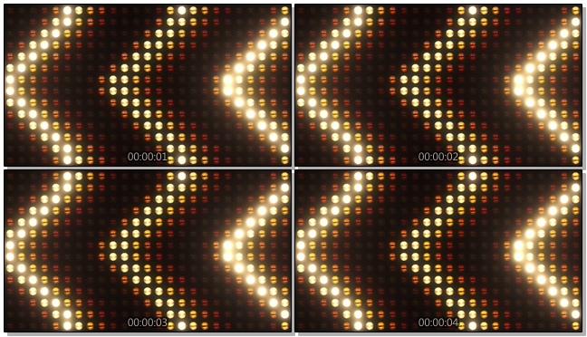 酒吧灯光墙往右边移动的视频素材