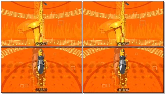 高端大气的金色萨克斯全面展示视频素材