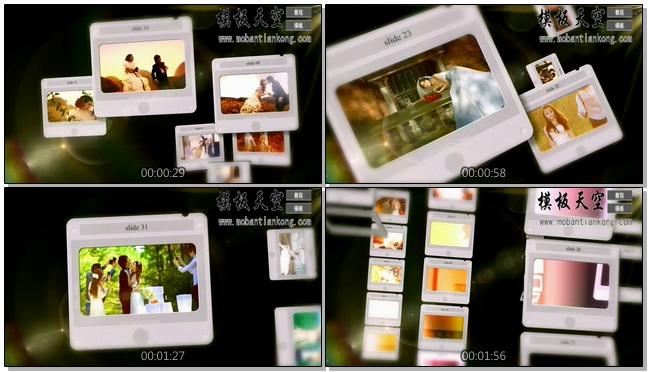 相机里的甜蜜时光情侣婚庆婚礼视频AE模板