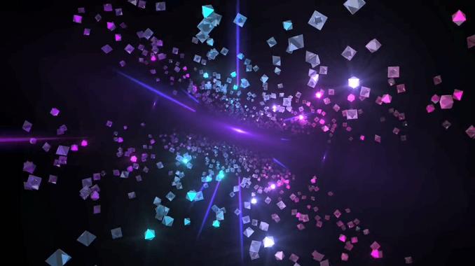 121410079几何体空间粒子飞舞