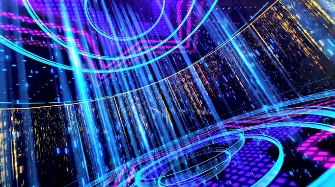 121410082转动星光荧光粒子雨