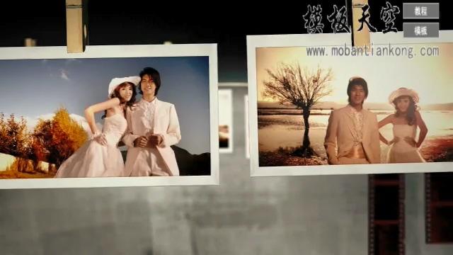 ins风相机爱情婚庆婚礼视频AE模板