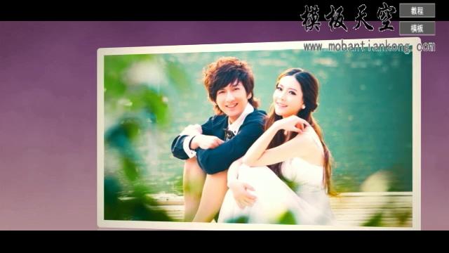 紫色爱的心情婚庆婚礼视频AE模板