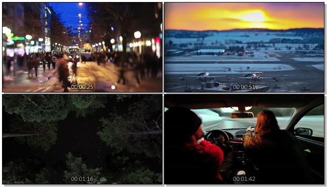 快速记录城市夜晚交通方式的实拍视频