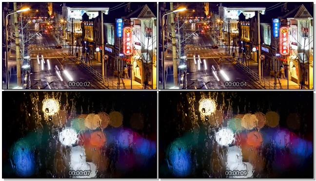 唯美梦幻的城市霓虹灯车流移动实拍视频