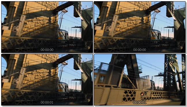 近距离拍摄火车行驶的实拍视频