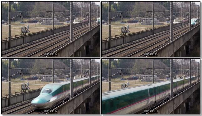 从正前方拍摄高铁运行过程的实拍视频