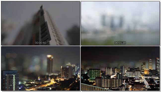 新加坡快节奏的城市美景实拍视频