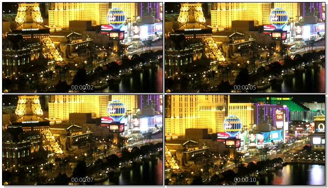 延时拍摄城市夜晚霓虹灯闪烁的实拍视频