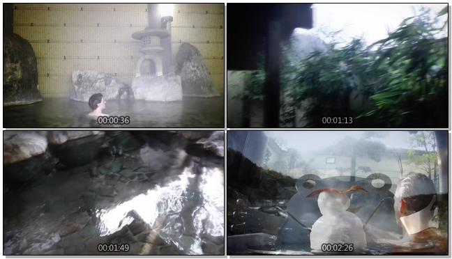 惬意的日本温泉文化与风光实拍视频