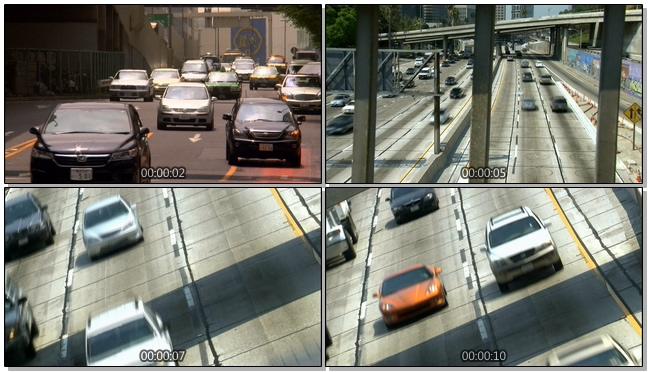 城市午后汽车出行的实拍视频