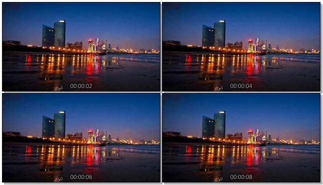 唯美梦幻的城市霓虹灯车流实拍视频