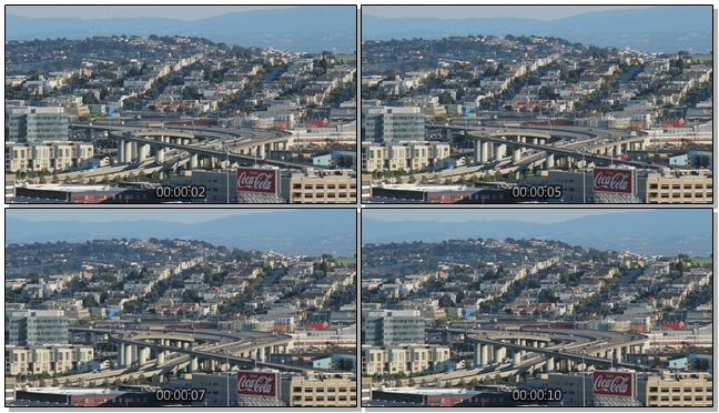城市中交通出行的实拍视频