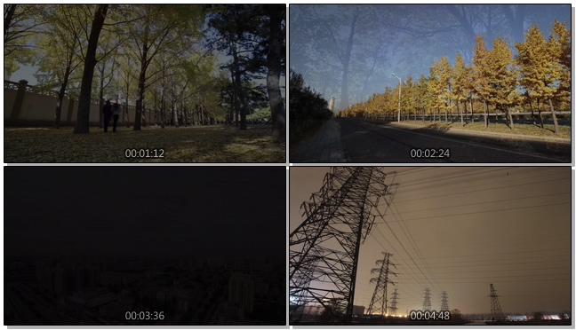 延时拍摄背景城市风景实拍视频