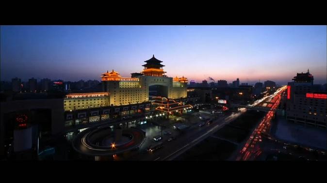 140510005北京城市夜景车流美丽风光