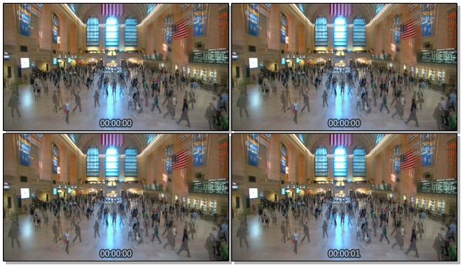 汽车站内人潮拥挤的实拍视频