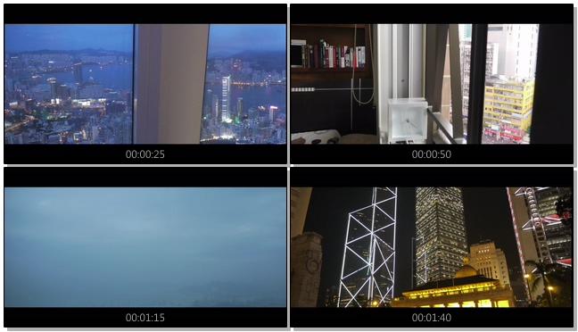 延时拍摄香港日与夜的风景实拍视频