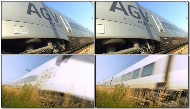 慢镜头下的高铁运行实拍视频