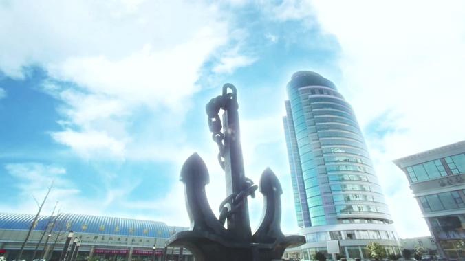宁波舟山的城市面貌实拍视频