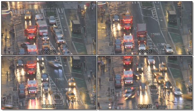 高清拍摄城市的交通拥挤实拍视频