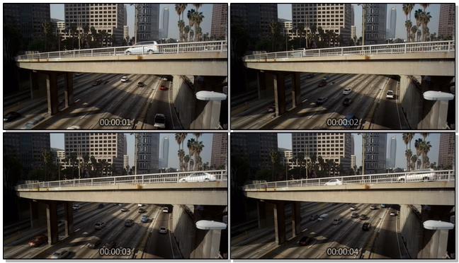 汽车在城市中缓慢行驶的实拍视频