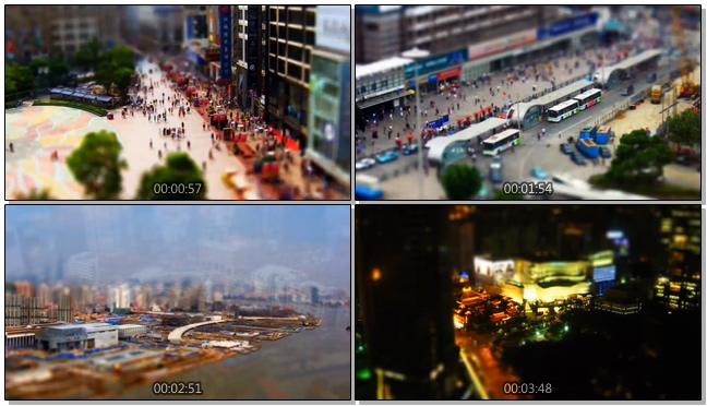 上海快节奏生活方式实拍视频