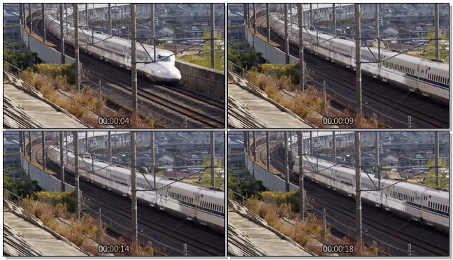 慢镜头回顾高铁转弯的实拍视频