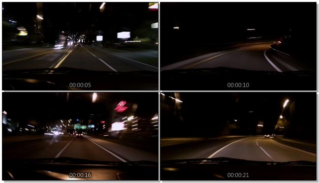 行车记录仪拍摄城市汽车交通的实拍视频