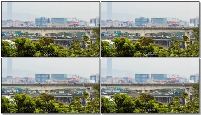 延时拍摄城市交通现状的实拍视频