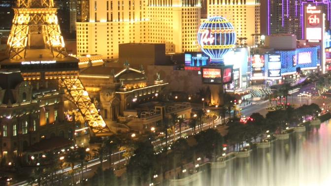 高端大气的城市霓虹灯闪烁实拍视频