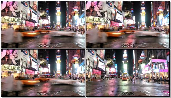 延时拍摄城市街头车水马龙的实拍视频