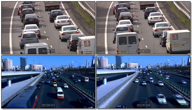 高清拍摄汽车出行远近交替的实拍视频