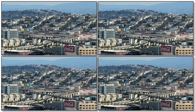 延时拍摄立交桥上车流移动的实拍视频