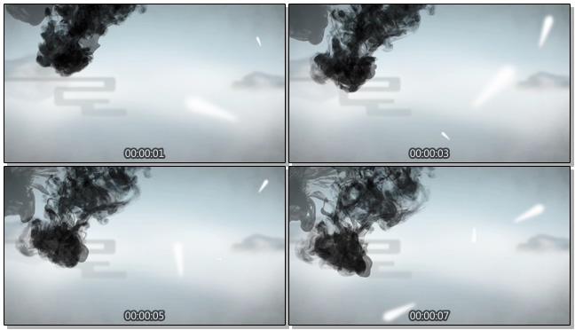 水墨从天空上方落下的视频素材