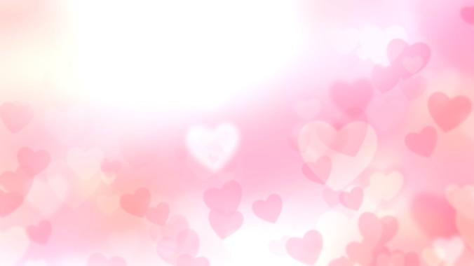 简洁粉色桃心背景视频素材